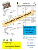 Context Clue Types and Practice for Middle and High School