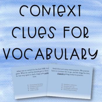 Context Clues for Vocabulary