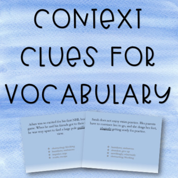 Context Clues for Vocabulary