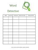Context Clue Worksheet:  Word Detective