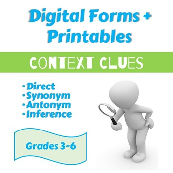photo regarding Clue Sheets Printable titled Context Clues: Guide, Synonym, Antonym, Inference [Print Electronic]: Grades 3-6