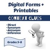 Context Clues: Direct, Synonym, Antonym, Inference: Grades 5-8 [Print & Digital]