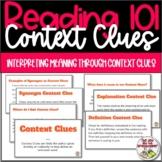 Reading Context Clues 101 for Upper Grades
