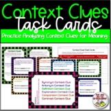 Reading - Context Clues 101:  Task Cards - Upper Grades Hi