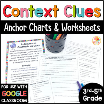 Context Clues Printables and Anchor Charts