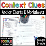 Context Clues Worksheets - No Prep Printables and Anchor Charts