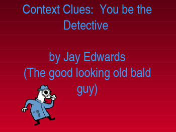 Context Clues ~ 18 slide POWERPOINT