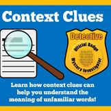 Context Clues | 1st 2nd 3rd 4th 5th Grade | PowerPoint Activity