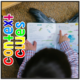 Context Clues Lesson Plan, Task Cards, Printable Worksheets, NO PREP