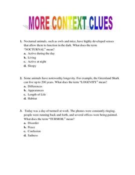 Context Clues 2