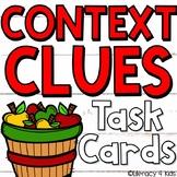 Context Clues Task Cards 3rd Grade (Apple Festival Themed)