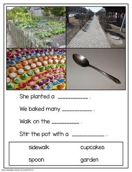 Context Clues for Elementary Primary Grades Real Photos