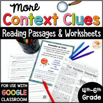 Context Clues Passages, Worksheets, and Anchor Charts by Kirsten's ...