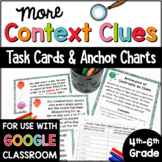Context Clues Task Cards & Anchor Charts for 4th, 5th, and
