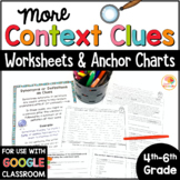 Context Clues Anchor Charts, Worksheets, & Activities for