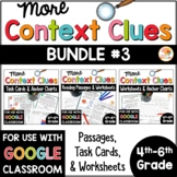 Context Clues Passages, Printables, and Task Cards BUNDLE