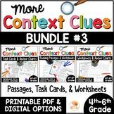 Context Clues Passages, Printables, and Task Cards BUNDLE