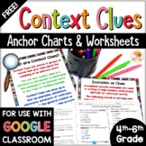 Context Clues Worksheets: Anchor Charts and Printables FREE