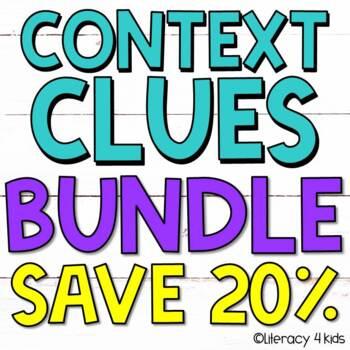 Context Clues Task Cards $$$ Savings BUNDLE for Grades 3-5