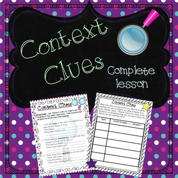 Context Clues Powerpoint and Activities