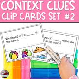 Context Clues Task Cards | SET 2