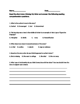 Context Clues with Anticipation Guide and Common Core Reading Questions