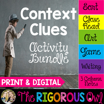 Context Clues Activities | Print & Digital | Distance Learning