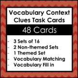 Context Clues Task Cards -Vocabulary