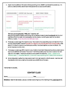 Context Clues Lesson Reading TEKS 3.4B