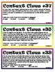 Context Clues #4 (fourth set)