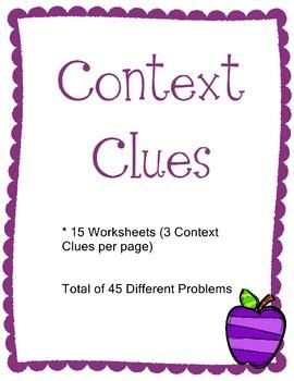 Context Clues 45 Different Problems