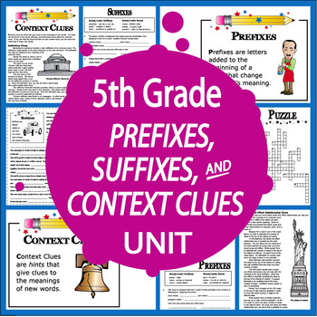 Context Clues Activities (3 COMPLETE Lessons & 7 Context Clues Worksheets)