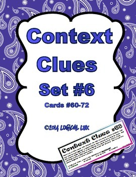 Context Clues #6 (sixth set)