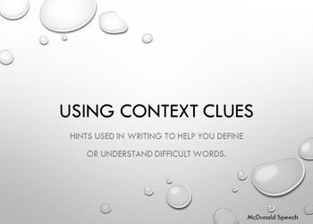 Context Clues 6th grade Vocabulary