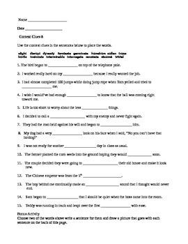 Context Clues 8