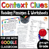 Context Clues Activities: Passages, Worksheets, & Anchor Charts - 2nd-4th grade