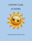 Context Clues Activities - Task Cards, Card Sorts, & More