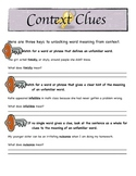 Context Clues Activity Bundle