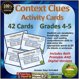 Context Clues Activity Cards - Digital and Printable Versions Included