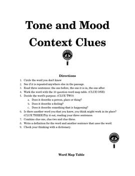 Context Clues Activity Directions