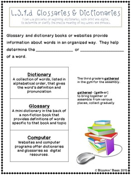 Context Clues, Affixes, Root Words, and Glossaries & Dictionaries