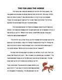 Context Clues - An Aesop's Fable