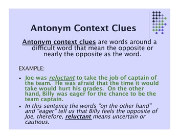 Context Clues: An Introductory Powerpoint Lesson for the Upper Grades