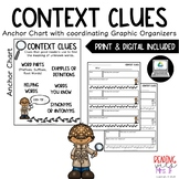 Context Clues Anchor Chart with Graphic Organizer (PRINT & DIGITAL)