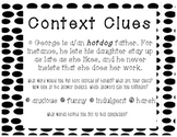 Context Clues Anchor Chart with Step by Step Scaffolded In