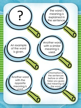 Crafting Connections: Context Clues Anchor Chart (FREEBIE included!)