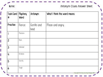 Context Clues- Antonym Clue Words