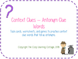 Context Clues- Antonym Clue Words