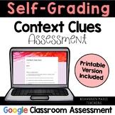 Distance Learning: Self-Grading Context Clues Quiz: Digita
