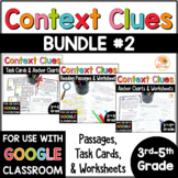 Context Clues Passages, Worksheets, and Task Cards BUNDLE for 3rd-5th grade